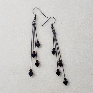 Hand made fashion earrings plum
